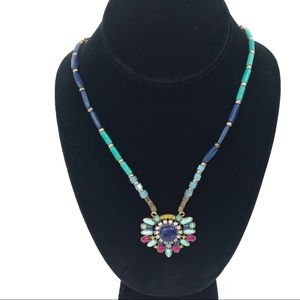 Chloe + Isabel Necklace Blue Turquoise Pink Beads